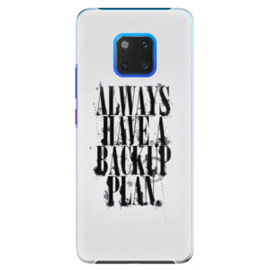 Plastové pouzdro iSaprio Backup Plan na mobil Huawei Mate 20 Pro
