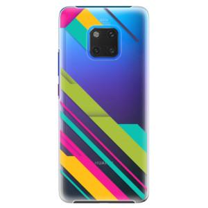 Plastové pouzdro iSaprio Barevné Pruhy 03 na mobil Huawei Mate 20 Pro
