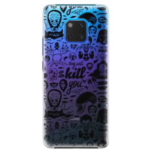 Plastové pouzdro iSaprio Komiks 01 black na mobil Huawei Mate 20 Pro