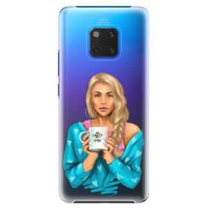 Plastové pouzdro iSaprio Coffee Now Blondýna na mobil Huawei Mate 20 Pro