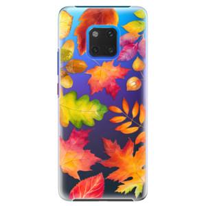 Plastové pouzdro iSaprio Podzimní Lístečky na mobil Huawei Mate 20 Pro