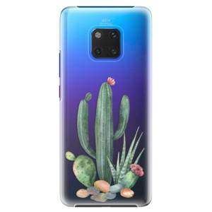 Plastové pouzdro iSaprio Kaktusy 02 na mobil Huawei Mate 20 Pro