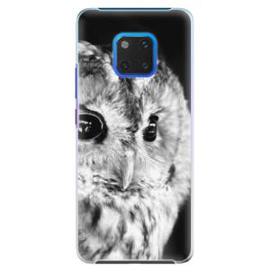 Plastové pouzdro iSaprio BW Sova na mobil Huawei Mate 20 Pro