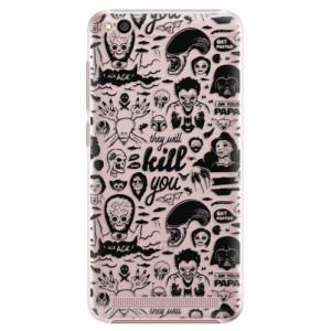 Plastové pouzdro iSaprio Komiks 01 black na mobil Xiaomi Redmi 5A