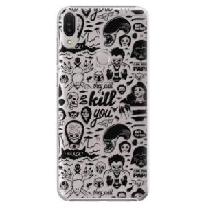 Plastové pouzdro iSaprio Komiks 01 black na mobil Asus Zenfone Max Pro ZB602KL