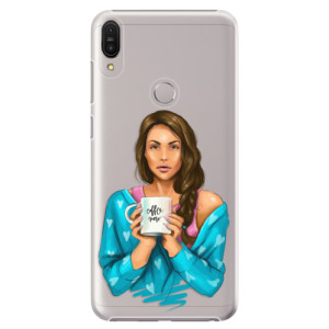 Plastové pouzdro iSaprio Coffee Now Brunetka na mobil Asus Zenfone Max Pro ZB602KL