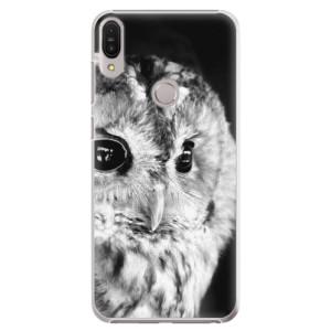 Plastové pouzdro iSaprio BW Sova na mobil Asus Zenfone Max Pro ZB602KL