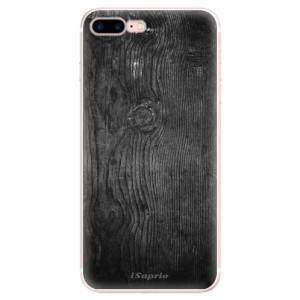 Silikonové pouzdro iSaprio (mléčně zakalené) Black Wood 13 na mobil Apple iPhone 7 Plus