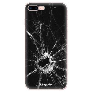 Silikonové pouzdro iSaprio (mléčně zakalené) Broken Glass 10 na mobil Apple iPhone 7 Plus
