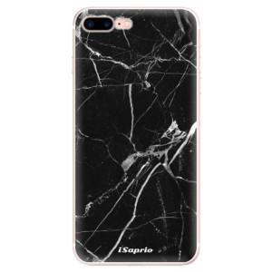 Silikonové pouzdro iSaprio (mléčně zakalené) Black Marble 18 na mobil Apple iPhone 7 Plus
