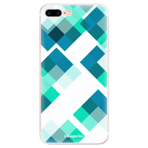 Silikonové pouzdro iSaprio (mléčně zakalené) Abstract Squares 11 na mobil Apple iPhone 7 Plus