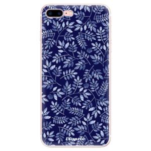 Silikonové pouzdro iSaprio (mléčně zakalené) Blue Leaves 05 na mobil Apple iPhone 7 Plus