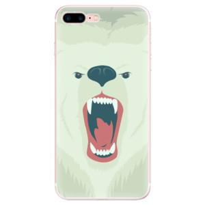 Silikonové pouzdro iSaprio (mléčně zakalené) Naštvanej Medvěd na mobil Apple iPhone 7 Plus