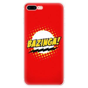 Silikonové pouzdro iSaprio (mléčně zakalené) Bazinga 01 na mobil Apple iPhone 7 Plus