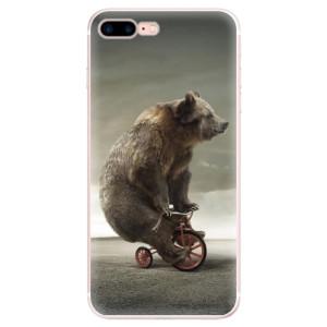 Silikonové pouzdro iSaprio (mléčně zakalené) Medvěd 01 na mobil Apple iPhone 7 Plus