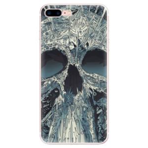 Silikonové pouzdro iSaprio (mléčně zakalené) Abstract Skull na mobil Apple iPhone 7 Plus