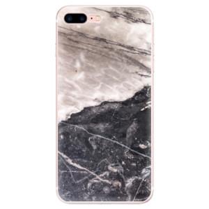 Silikonové pouzdro iSaprio (mléčně zakalené) BW Mramor na mobil Apple iPhone 7 Plus