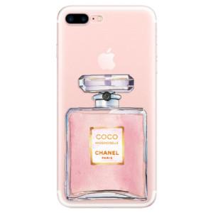 Silikonové pouzdro iSaprio (mléčně zakalené) Chanel Rose na mobil Apple iPhone 7 Plus