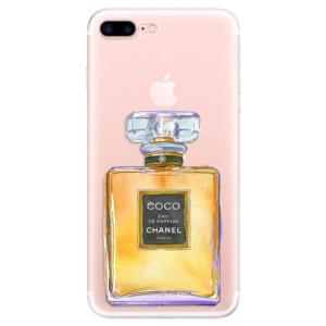 Silikonové pouzdro iSaprio (mléčně zakalené) Chanel Gold na mobil Apple iPhone 7 Plus