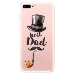 Silikonové pouzdro iSaprio (mléčně zakalené) Best Dad na mobil Apple iPhone 7 Plus
