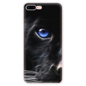 Silikonové pouzdro iSaprio (mléčně zakalené) Black Puma na mobil Apple iPhone 7 Plus