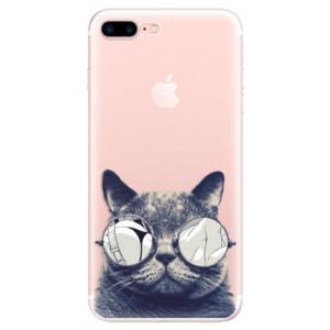 Silikonové pouzdro iSaprio (mléčně zakalené) Šílená Číča 01 na mobil Apple iPhone 7 Plus