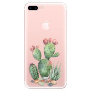 Silikonové pouzdro iSaprio (mléčně zakalené) Kaktusy 01 na mobil Apple iPhone 7 Plus