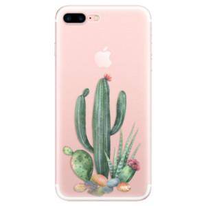 Silikonové pouzdro iSaprio (mléčně zakalené) Kaktusy 02 na mobil Apple iPhone 7 Plus