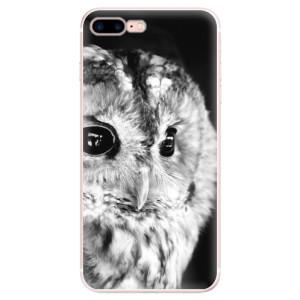 Silikonové pouzdro iSaprio (mléčně zakalené) BW Sova na mobil Apple iPhone 7 Plus