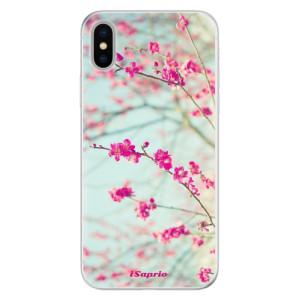 Silikonové pouzdro iSaprio (mléčně zakalené) Blossom 01 na mobil Apple iPhone X