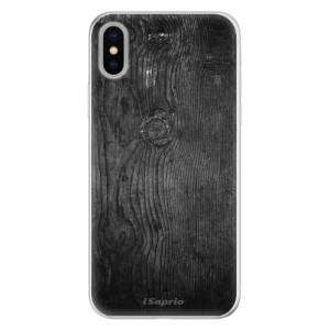 Silikonové pouzdro iSaprio (mléčně zakalené) Black Wood 13 na mobil Apple iPhone X