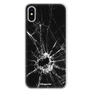 Silikonové pouzdro iSaprio (mléčně zakalené) Broken Glass 10 na mobil Apple iPhone X
