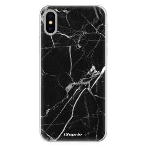 Silikonové pouzdro iSaprio (mléčně zakalené) Black Marble 18 na mobil Apple iPhone X