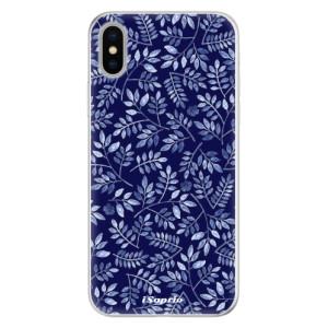Silikonové pouzdro iSaprio (mléčně zakalené) Blue Leaves 05 na mobil Apple iPhone X