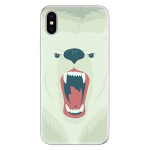 Silikonové pouzdro iSaprio (mléčně zakalené) Naštvanej Medvěd na mobil Apple iPhone X