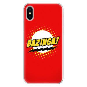Silikonové pouzdro iSaprio (mléčně zakalené) Bazinga 01 na mobil Apple iPhone X