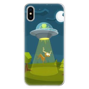 Silikonové pouzdro iSaprio (mléčně zakalené) Ufouni 01 na mobil Apple iPhone X