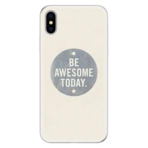 Silikonové pouzdro iSaprio (mléčně zakalené) Awesome 02 na mobil Apple iPhone X