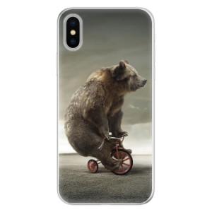 Silikonové pouzdro iSaprio (mléčně zakalené) Medvěd 01 na mobil Apple iPhone X