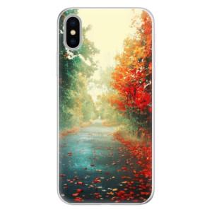 Silikonové pouzdro iSaprio (mléčně zakalené) Podzim 03 na mobil Apple iPhone X