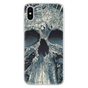 Silikonové pouzdro iSaprio (mléčně zakalené) Abstract Skull na mobil Apple iPhone X