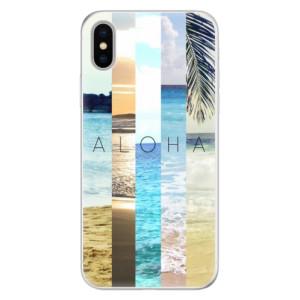 Silikonové pouzdro iSaprio (mléčně zakalené) Aloha 02 na mobil Apple iPhone X