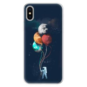 Silikonové pouzdro iSaprio (mléčně zakalené) Balónky 02 na mobil Apple iPhone X