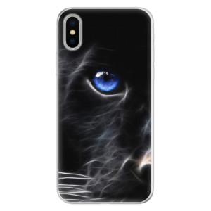 Silikonové pouzdro iSaprio (mléčně zakalené) Black Puma na mobil Apple iPhone X