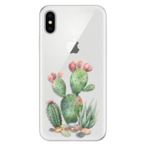Silikonové pouzdro iSaprio (mléčně zakalené) Kaktusy 01 na mobil Apple iPhone X