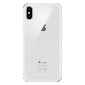 Silikonové pouzdro iSaprio 4Pure mléčné bez potisku na mobil Apple iPhone X