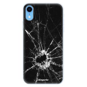 Silikonové pouzdro iSaprio (mléčně zakalené) Broken Glass 10 na mobil Apple iPhone XR