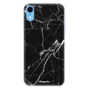 Silikonové pouzdro iSaprio (mléčně zakalené) Black Marble 18 na mobil Apple iPhone XR