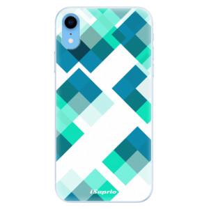 Silikonové pouzdro iSaprio (mléčně zakalené) Abstract Squares 11 na mobil Apple iPhone XR