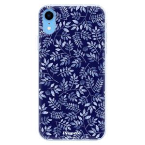 Silikonové pouzdro iSaprio (mléčně zakalené) Blue Leaves 05 na mobil Apple iPhone XR